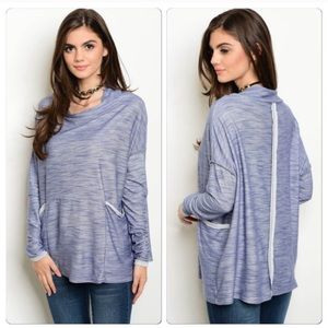 Tops - Cowl neck marbled top